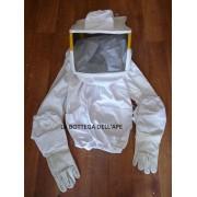 Protezione Apicoltore- Maschera a camiciotto e guanti in pelle