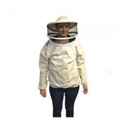 Giubbotto da apicoltore con maschera con rete di tulle rotonda