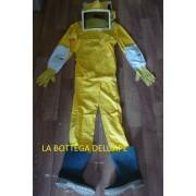 Protezione Apicoltore Tuta compatta con guanti e stivali