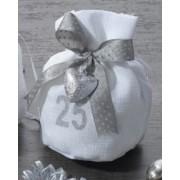 Sacchetto confetti nozze argento