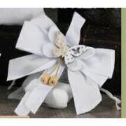 Fiocco con Sacchetto confetti e farfalla legno