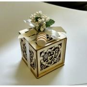 Bomboniera mielino in box legno cuore