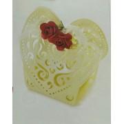 Confetti in scatola Cuore con rose