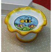 "Alzatina in ceramica Caltagirone ""Bee"""