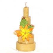 Candela Cake in fogli di cera d'Api