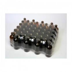 Bottiglietta in vetro scuro contenuto 125ml  pezzi n°48