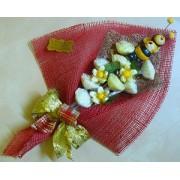 Bouquet rosso di roselline di sapone