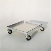 Carrello portamelario in acciaio inox con ruote per melari 43,5x5...