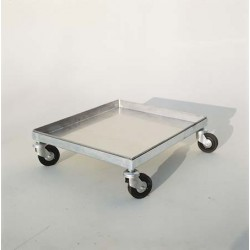 Carrello portamelario in acciaio inox con ruote per melari 50x50