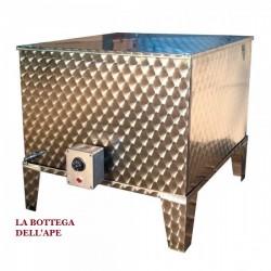 Sceratrice a vapore - in acciao inox - capacità 15 telaini con resistenza elettrica