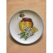 "Piatto tondo in ceramica ""Honey"""
