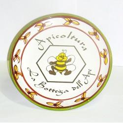 """Piatto tondo in ceramica """"La Bottega dell'Ape"""""""