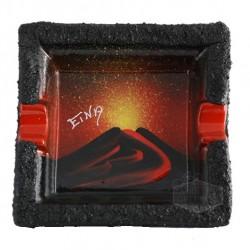 Posacenere Etna in ceramica e Pietra lavica