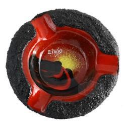 Posacenere Etna tondo 3posti ceramizzato in pietra lavica